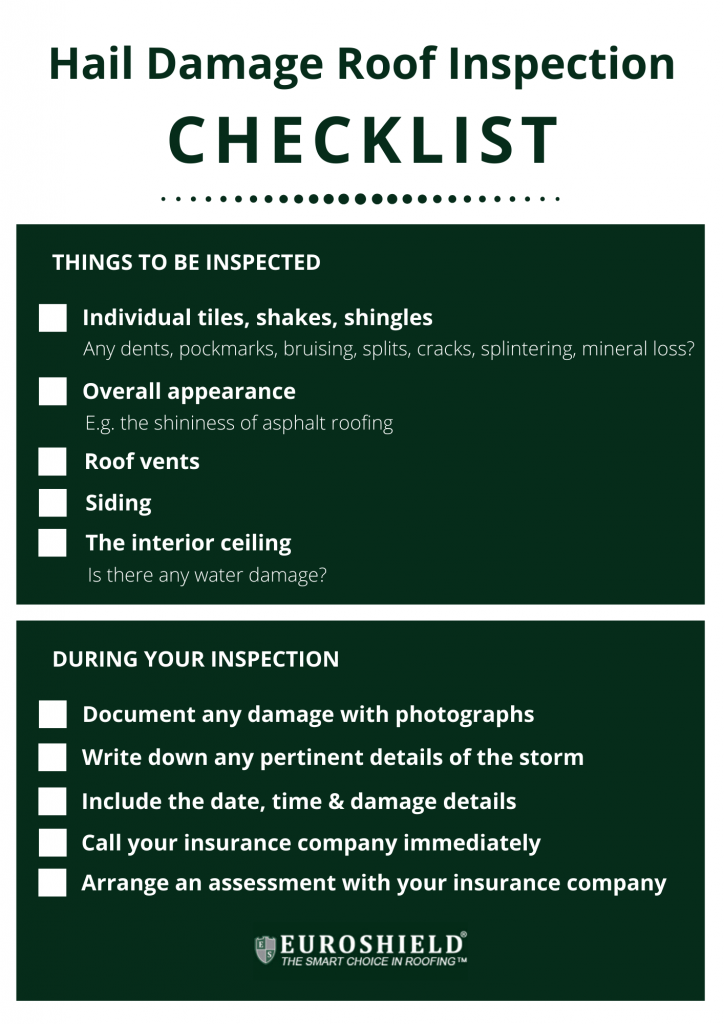 Hail Damage Roof Inspection Checklist
