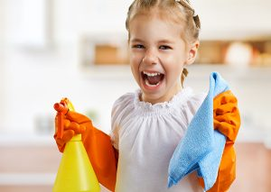 fun spring cleaning with kids